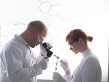 Laboratory analysis Royalty Free Stock Photos