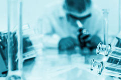 Laboratory assistant in the laboratory Stock Photos