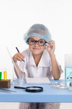 Laboratory assistant in the workplace Stock Photos