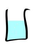 Laboratory Beaker vector. Beaker - Part of laboratory clipart vectors series Royalty Free Stock Images