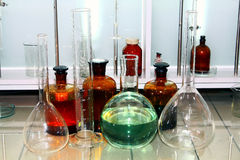 Laboratory beakers Stock Image