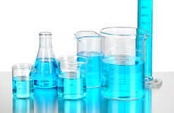 Laboratory Beakers Stock Images