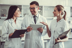 At the laboratory Stock Images
