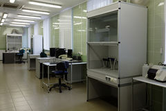 Laboratory in the blood bank Stock Photos