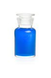 Laboratory bottle with blue liquid Royalty Free Stock Image