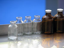Laboratory bottles Royalty Free Stock Image