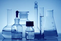 Laboratory bottles Royalty Free Stock Photography