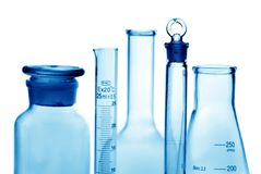 Laboratory bottles Stock Image