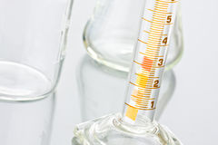 Laboratory bottles Royalty Free Stock Images