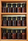 Laboratory bottles stock photography