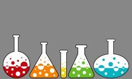 Laboratory bottles Stock Image