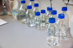 Laboratory bottles Royalty Free Stock Photo