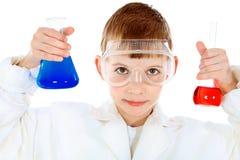 Laboratory boy Stock Photos