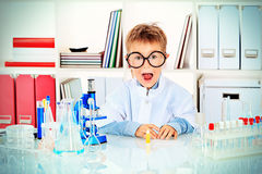 Laboratory boy Royalty Free Stock Images