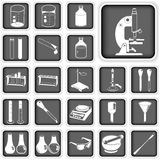 Laboratory buttons set. Collection of laboratory buttons (icons) set Royalty Free Stock Image