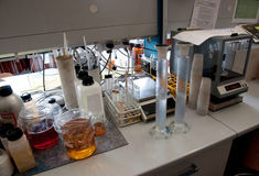 Laboratory for chemical analysis royalty free stock image