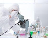 Laboratory chemical analysis Stock Image