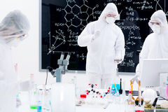 Laboratory chemical analysis Stock Photos