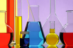 Laboratory chemical equipment. Laboratory with the equipment for the chemical analysis Stock Images