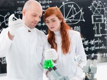 Laboratory chemical experiment Stock Photo