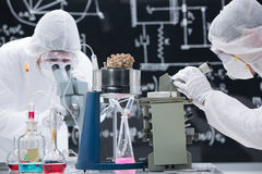 Laboratory chemical research Stock Photos