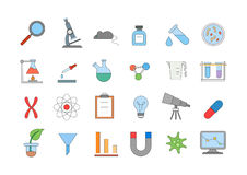 Laboratory colorful icons set. Set of 24 Laboratory colorful icons Stock Photos
