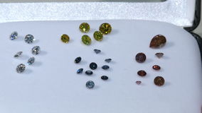 Laboratory-created, lab-grown, or man-made diamonds stock footage
