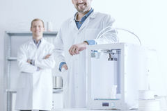 Laboratory with 3D printer Stock Photography