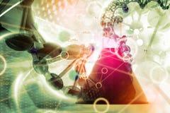 Laboratory DNA background. Digital illustration of Laboratory DNA background Royalty Free Stock Photo