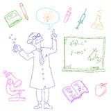 Laboratory doodles Stock Photo