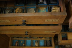 Laboratory drawers Royalty Free Stock Image