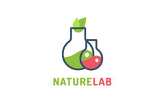 Laboratory ecology vector logo Royalty Free Stock Image