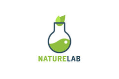 Laboratory ecology vector logo Royalty Free Stock Photo