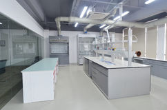 Laboratory. Empty laboratory with modern design Stock Photo