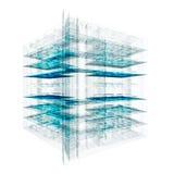 Laboratory engineering on white Stock Images