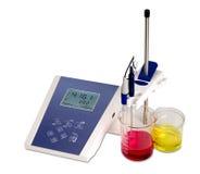 Laboratory equipment. PH analysis isolated by laboratory equipment Royalty Free Stock Photos