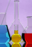 Laboratory equipment. With color liquid Stock Images