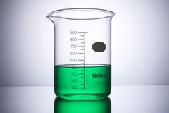 Laboratory equipment beaker front on Royalty Free Stock Photo