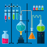 Laboratory equipment concept Royalty Free Stock Photos
