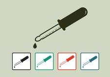 Laboratory equipment icon set Stock Image