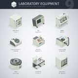 Laboratory Equipment Icons Royalty Free Stock Photography