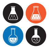 Laboratory equipment icons Stock Photo