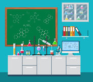Laboratory equipment, jars, beakers, flasks, Stock Photos