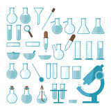 Laboratory equipment set. For design Royalty Free Stock Photo