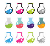 Laboratory equipment vector icons set Stock Photography