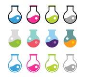Laboratory equipment vector icons set Stock Photography