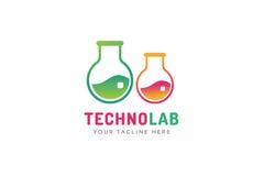 Laboratory equipment vector logo Stock Photography