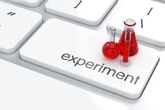 Laboratory experiment concept Royalty Free Stock Photos