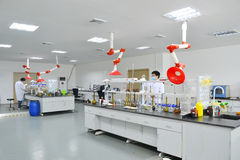 Laboratory experiment stock images