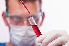 Laboratory. Experiment scientist in the microbiology laboratory Stock Image